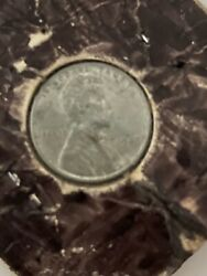 Rare 1943 Silver Steel Wheat Penny Sticks To Magnets No Mint Mark