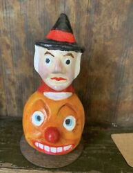 Antique Vintage 1920s Style Halloween Candy Container Tribute Figure Witchypoo