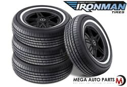 4 Ironman By Hercules Rb-12 Nws 225/70r15 100s White Wall All Season 440ab Tires