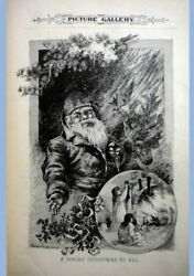 1886 Antique Victorian Bound 12 Iss Thos Worth Santapicture Gallery Young Folks