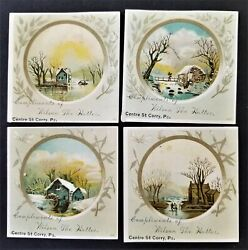 Lot 1880 Antique 4pc Victorian Trade Card Corry Pa Wilson The Hatter Ad