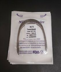 Dental Orthodontic Thermal Activated Niti Arch Wires Rectangular Ovoid Form