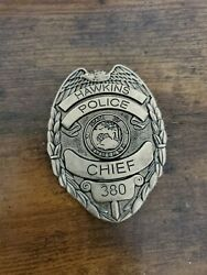 Stranger Things Netflix Hawkins Police Chief 280 Badge State Of Indiana