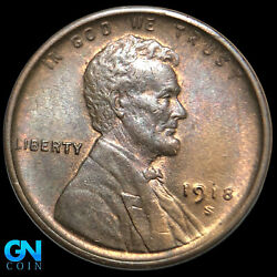 1918 S Lincoln Cent Wheat Penny -- Make Us An Offer K8906