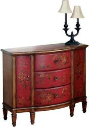 Chest Of Drawers Red Antique Brass Distressed Wood Felt Hiroshi Han