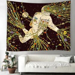 Astronaut Psychedelic Mandala Wall Tapestry Home bedroom Wall Hanging Hippie Art
