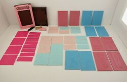 Vintage Lot Of Tomy Fashion Plates Flip And Fold Great Greetings And Extra Plates