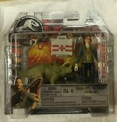 Jurassic World Zia And Triceratops Action Figure 2 Pk.jurassic Park