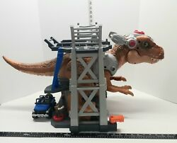 Fisher-price Imaginext Jurassic World Escape T-rex 3-level Playset Missing Proje