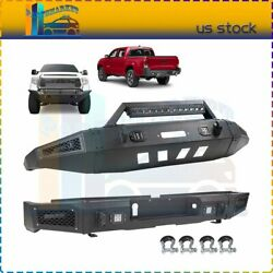 Front / Rear Bumper W/ Led Lights D-rings For 2014-2019 Toyota Tundra Textured