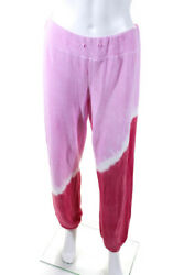 Sundry Womens High Rise Draw String Gradient Sweatpants Pink Size 0