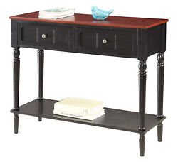 Convenience Concepts French Country 2 Drawer Hall Table With Shelf R3-0159