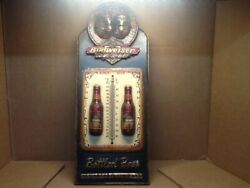 Budweiser 3d Beer Bottle And Clydesdale Wall Plaque W/ Thermometer, Looks Great