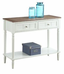 Convenience Concepts French Country 2 Drawer Hall Table With Shelf R3-0195
