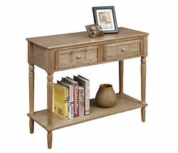 Convenience Concepts French Country 2 Drawer Hall Table With Shelf R3-0204