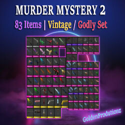 Murder Mystery 2 MM2 SMALL SET All Godly Ancient Vintage Weapons $7.99