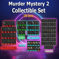Murder Mystery 2 - Mm2 Collectible Set Legendary Rares Uncommons Common