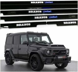 Mb W463 G-class Limited Style Black Interior Door Sills Trims Led