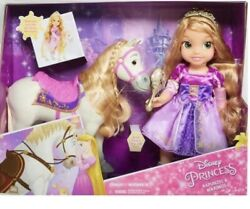 Disney Rapunzel Toddler Jointed Doll And Horse Maximus Doll Set