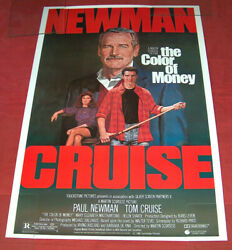 1986 The Color Of Money 27x40 Touchstone Pictures Movie Poster Cruise Newman Ex