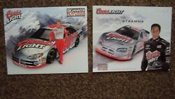 Lot Of 2 Diff - Sterling Marlin And David Stremme 40 Coors Nascar Postcard