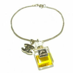 Bracelet Plastic Metal Material Gold Clear Yellow Perfume No.3890