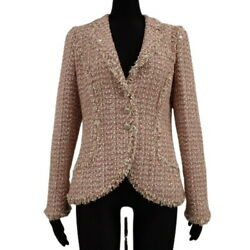 Coco Button Tweed Jacket Outer Long Sleeve Apparel Fashion No.6944