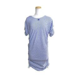 Cut Dress Women And039s Cotton Polyester Blue White P60250v45745 No.5131