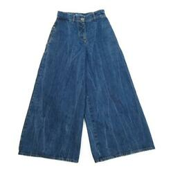 Denim Wide Pants Women 's Previously Owned Free Shipping No.5489
