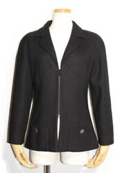 Jacket Ladies 36 Black Cotton P55513v41233 432 Previously Owned No.6290