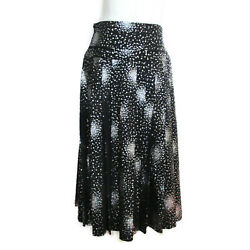 Long Skirt Clothing Bottoms Cotton Spangle Women And039s Black System No.5409