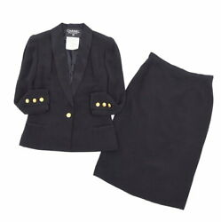 Vintage Coco Mark Suit Setup Jacket Skirt Women And039s Made In No.5793