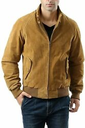 Landing Leathers Men Wwii Suede Leather Bomber Jacket Regular And Big And Tall)