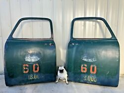 Vintage 1950's Chevy Truck Doors Matching Pair Logging Company Sisters, Oregon