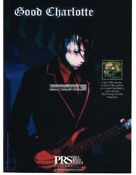 2003 Prs Electric Guitar Billy Martin Of Good Charlotte Vintage Ad