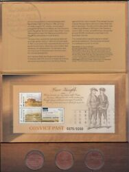 2018 Convict Past Special M/sheet And 3 Medallions.cost 85.00.limited/edition 200