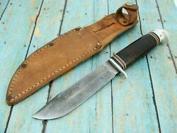 Vintage Ww2 Western Boulder Colo W46 Baby Shark Fixed Blade Bowie Knife Knives