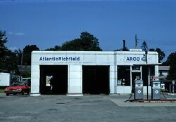Arco Gas Station Route 10 Deposit New York 5x7 Color Bandw Photo
