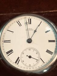 Waltham 1883 A.t. And Co 15j 18s Large Open Face Pocket Watch Running Well