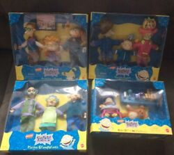 Mattel Nickelodeon Rugrats Playset Lot 4 Pickles ,angelicas Family, Grand Pare