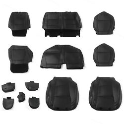 Seat Covers Black Full Set Factory Style For 15-2020 Ford F-150 Xl Xlt Crew Cab