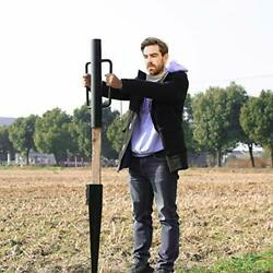 Gtongoko Fence Post Driver/rammer 24 Inch Heavy Duty Hand Post Pounder With Hand