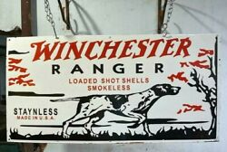 Winchester Ranger 48x24 Inches Porcelain Enamel Sign Double Side