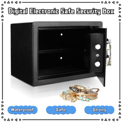 Home Digital Password Security Safe Box With Lock For Jewellery Money Valuables`