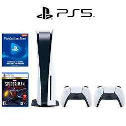 Ps5 Bundle 2 Dualsense Controllers Spiderman Ultimate 1month Playstation Now
