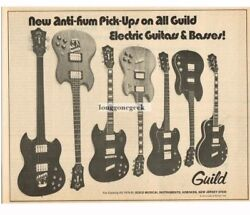 1971 Guild Electric Guitars And Basses New Anti-hum Pickups Vintage Print Ad