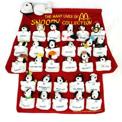 Rare Mcdonalds Mcdonald's Happy Set Snoopy Plush Toy 28 Bodies Tapestry Red Wall