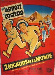 Abbot And Costello Meet The Mummy 1956 - French 47x63