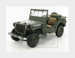 18 Premium-x Jeep Willys Mb Usa Army With Trailer And M3 Gun 1943 Pr8-0010 Mmc