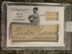 Ted Williams 2017 Flawless Cut Auto Game Bat Sp 09/25 Jersey . 1/1